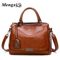 Vintage Rivets Women Shoulder Bags Large Capacity Pu Leather Women Handbags Luxury Handbags Women Bags Designer