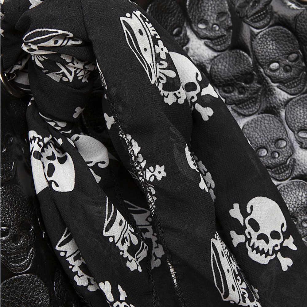 女性のハンドバッグのファッションスカルスケルトンチェーン Hangbag 女性カジュアルトートショルダーバケットショップバッグ Bolsas