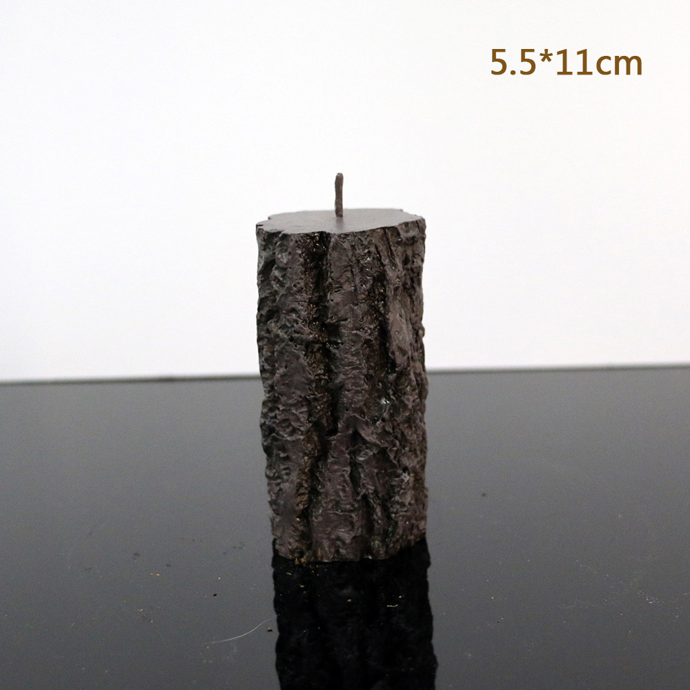 Tree stump candle silicone mold hand candle mold tree grain decorative candle silicone mold