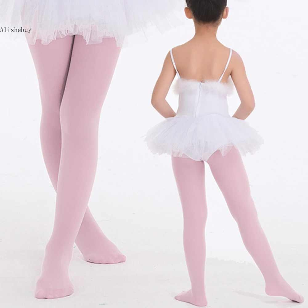 aa2f851616416 Professional Ballet Tap Dance Tights for Girls Stretch Footed Gymnastics  Pantyhose Princess Soft Stockings Pink White