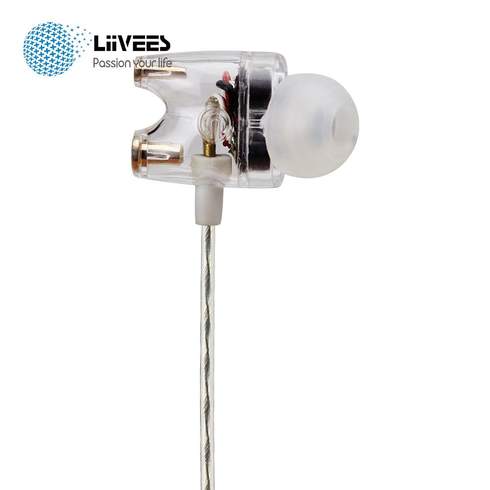 LiiVEES T1 in-ear Dual driver Dynamic Wired Sport Earphones HiFi Super Bass Game Headset Mic FOR Phone Run MP3 pc fone de ouvido