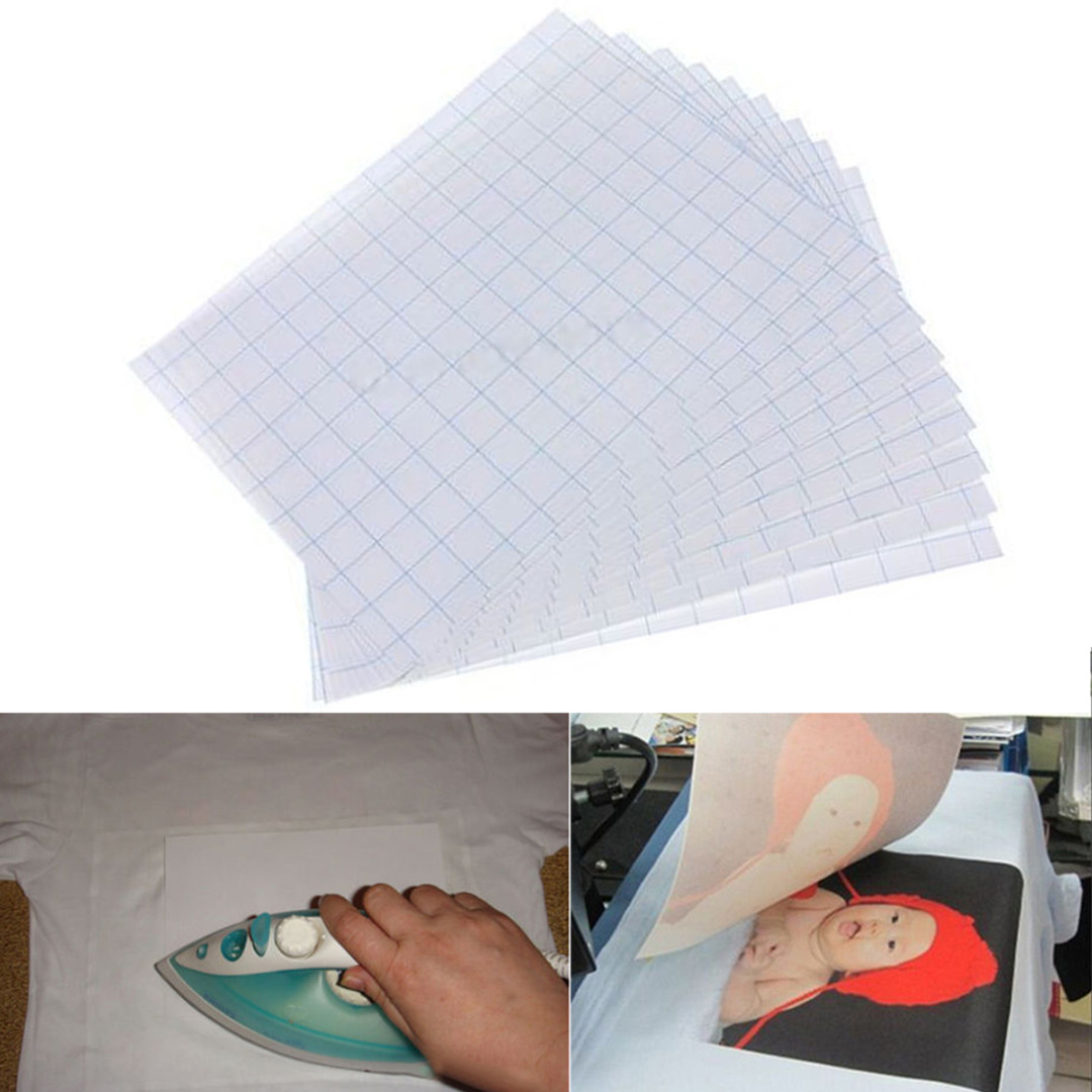 Color printing paper - 10 Sheets Iron On Transfer Paper A4 Heat Print Laser Transfer Paper For Light Color Fabric