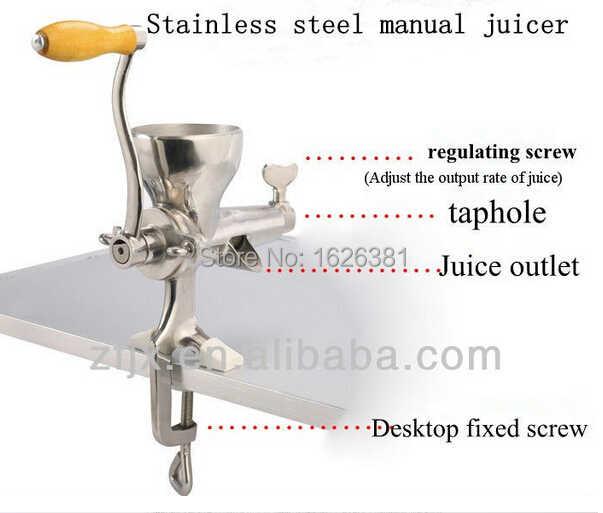 O ENVIO GRATUITO de 100% de Aço Inoxidável manual de Wheatgrass juicer extrator de suco de frutas cítricas VENDA QUENTE