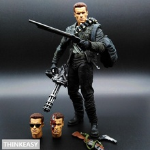 лучшая цена THINKEASY Terminator 2 Judgment Day T-800 Arnold PVC Action Figure Collectible Model Toy 7
