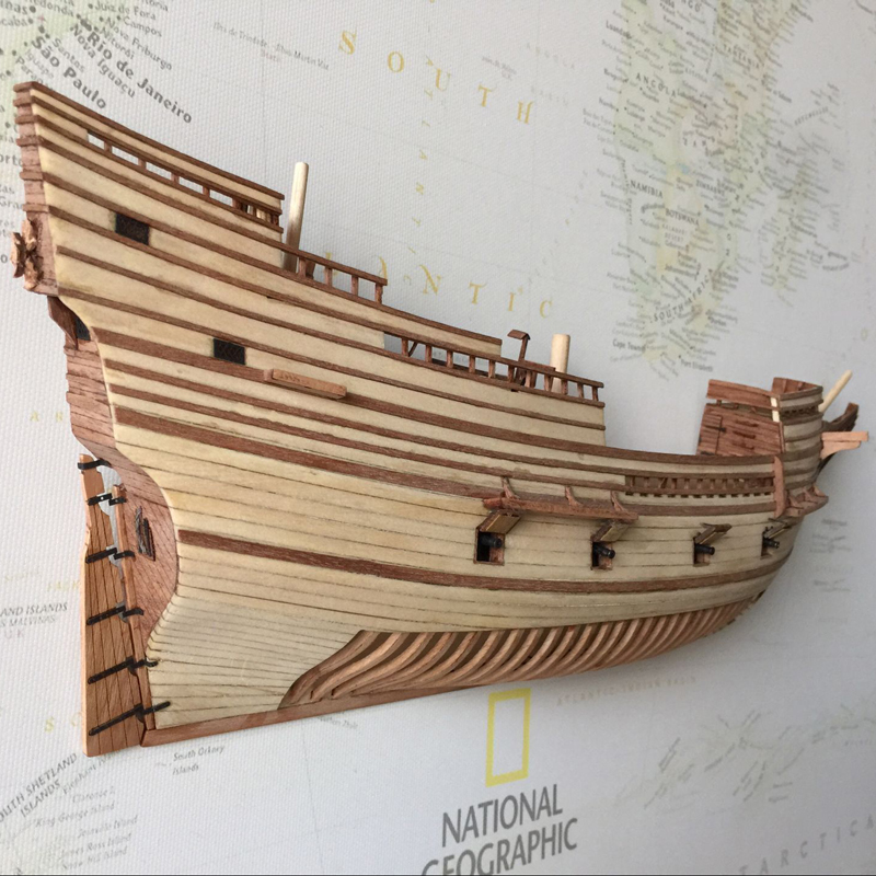 Us 50 05 50 Off Wooden Ship Models Kits Educational Children Games Diy Kit Model 3d Wood Boats Laser Cut 1 96 Half Hull Model Ship Kit Kids Toy In