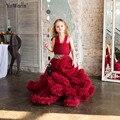 Облако маленький цветок девочки платья для свадеб Ребенок Партийные платьев секси дети изображения Платье дети пром платья вечерние платья 2016
