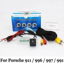 Автомобильная Камера Заднего вида Для Porsche 911/996/997/991/RCA AUX Проводной Или Беспроводной/HD CCD Ночного Видения Поддержка Камеры