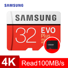 SAMSUNG Memory Card Micro SD 32GB SDHC SDXC Grade EVO+ Class 10 C10 UHS TF Cards Trans Flash Microsd New and SD Adapter Gift
