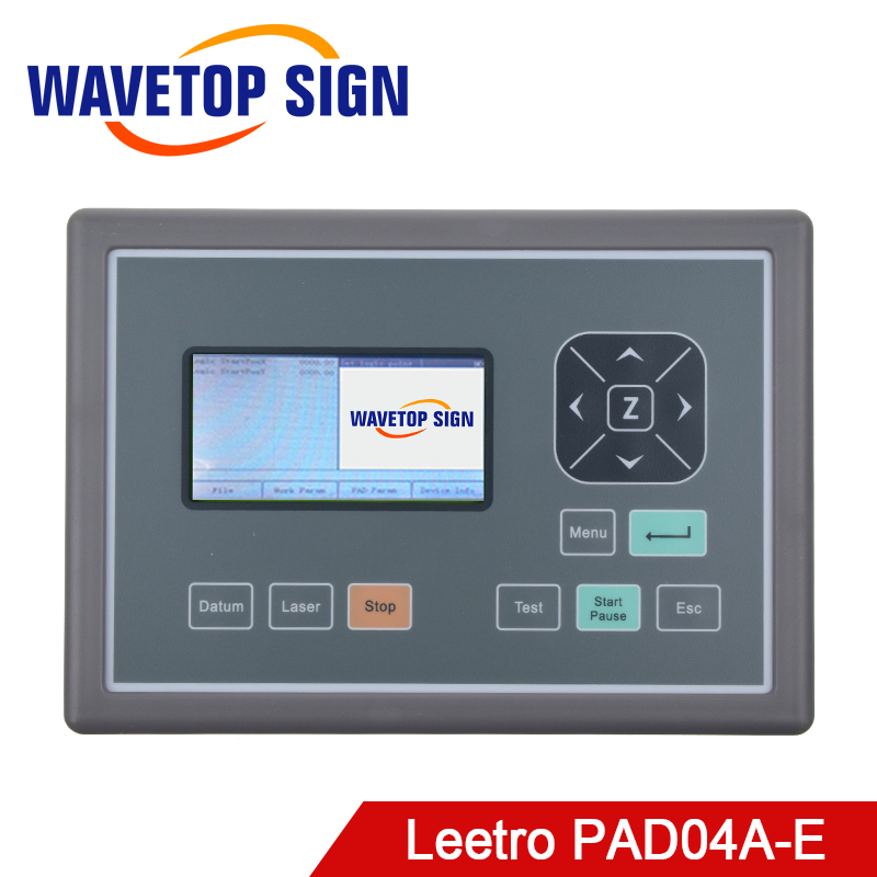 Leetro lcd control panel PAD04A use for mpc6515C mpc6525A mpc6565 mpc6585 lcd panel laser cutter and laser engraving machine leetro original software green dongle for mpc6515c and mpc6525a
