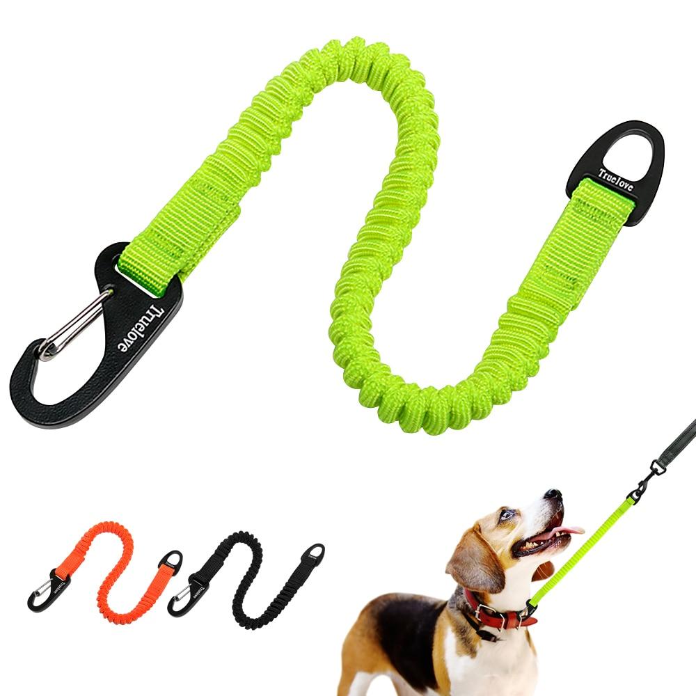 Short Bungee Dog Leash Elastic Bungee Buffer Dog Leash Nylon Retractable Extending Dog Leads Running Walking Training