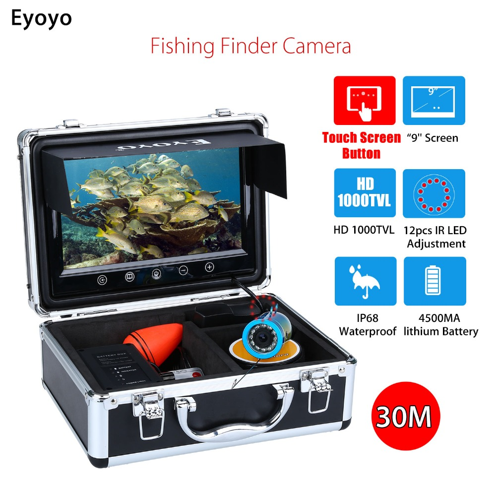 Eyoyo WF09T 9 30M Touch Screen Infrared HD 1000TVL Underwater Ice Fishing Camera Fish Finder Video Fishfinder Ocean Sea Boat eyoyo 930m touch screen infrared hd 1000tvl underwater fishing camera fish finder video fishfinder ocean river sea boat fishing