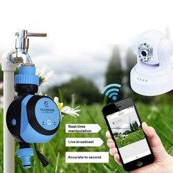 1pc Smart WiFi Phone Remote Wasserhahn Wasser Timer Garten Automatische Intelligente Elektronische Bewässerung Controller Bewässerung System