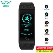 AMYNIKEER QW18 سوار ذكي سوار لياقة بدنية معدل ضربات القلب النوم مراقبة خطوة ساعة معصمه IP68 مقاوم للماء الرياضة Smartband