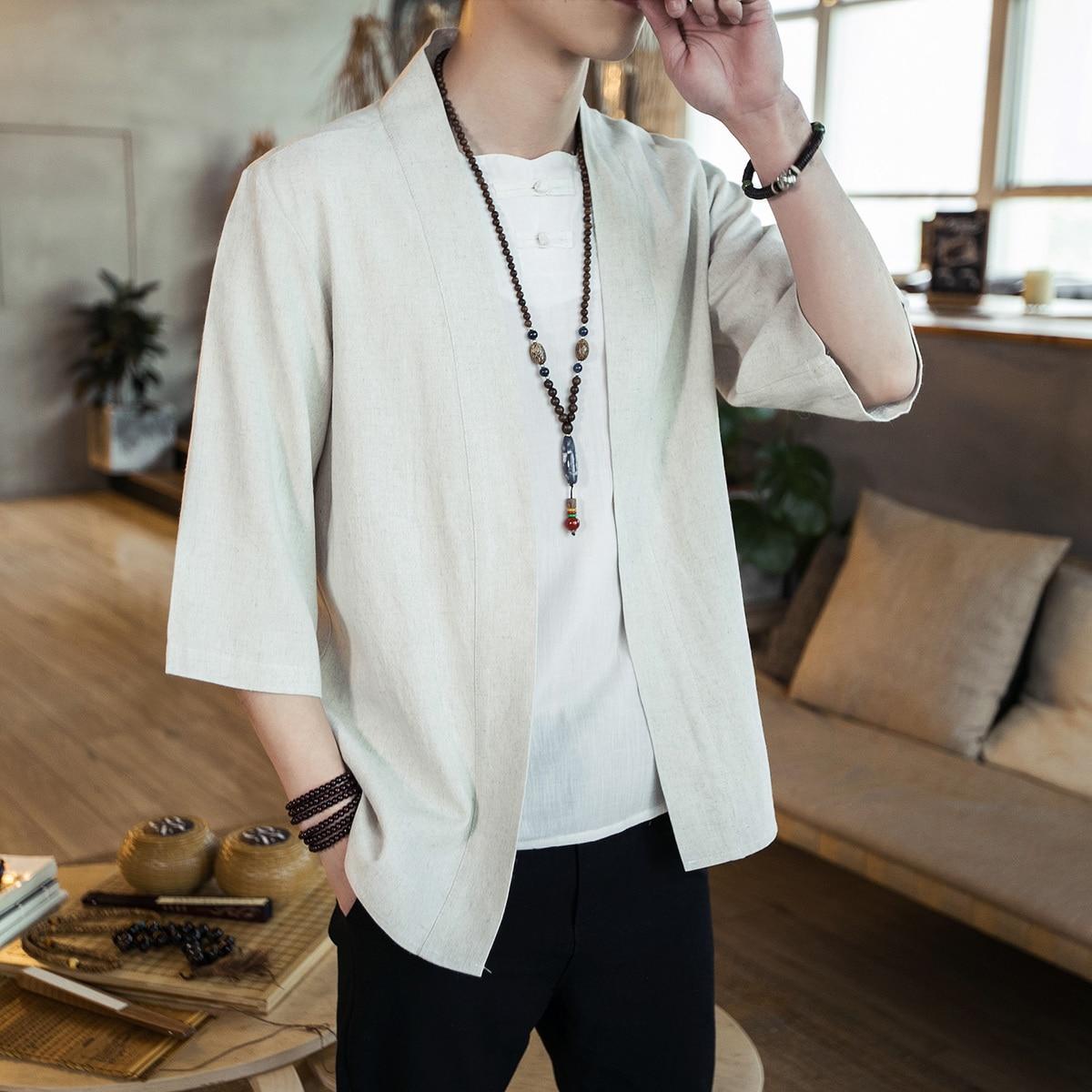 2019 Mens Kimono Japanese Clothes Streetwear Casual Kimonos Jackets Waves And Wind Dragn Harajuku Style Cardigan Outwear