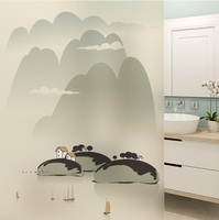 Glass window Film electrostatic frosted stained sticker home foil stickers waterproof for bathroom living room kitchen
