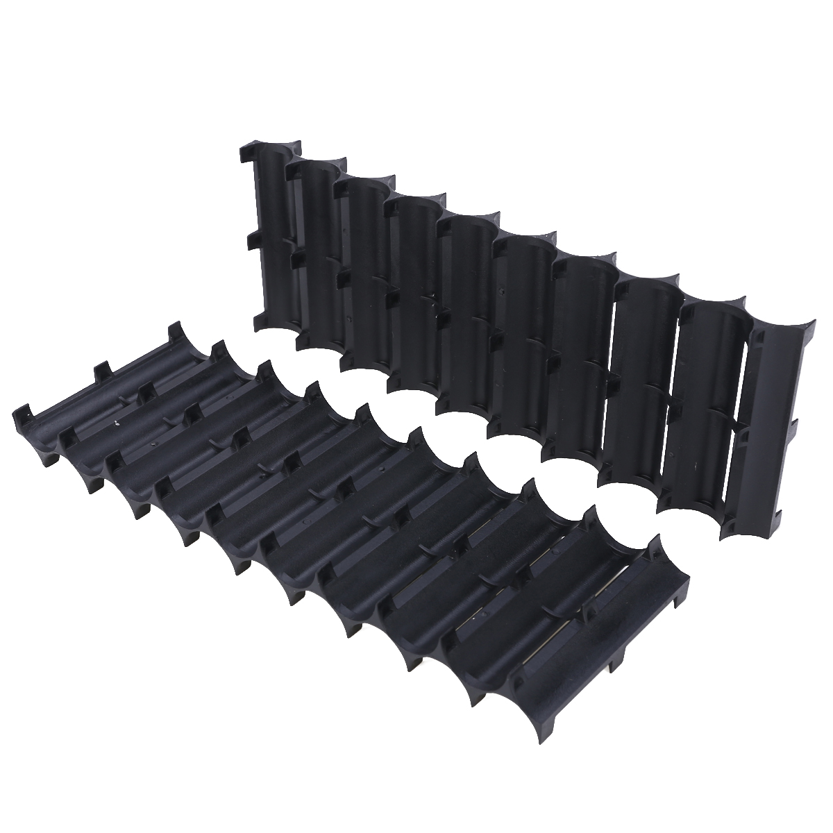 Newest 2pcs Black 10x Cell Plastic 18650 Battery Spacer Holder Cylindrical Cell Bracket For 18650 Battery Accessories