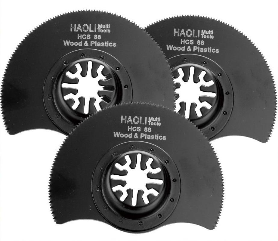 3 Pcs 88mm Flush Segment Oscillating Multi Tool Saw Blades For Renovator Tool For TCH FEIN DREMEL Multimaster,good Price