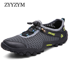 ZYYZYM Men Mesh Shoes Summer Casual Shoes Men Fashion Sneakers Non-slip Breathable Light Outdoor Walking Footwear EUR 38-45 2017 summer men s shoes slip on network casual shoes men footwear breathable mesh loafers size plus eur 40 47 light zapatos