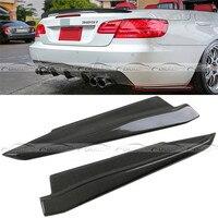 OLOTDI Car Styling Carbon Fiber Rear Lip Bumper Corner Protector Diffuser Spoiler For BMW 3 Series E92 2008 2010 H Style
