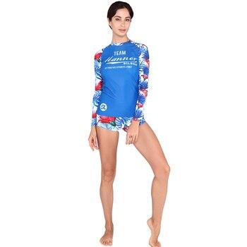 cdbfab32fb9f Trajes de surf de protección solar profesional SABOLAY para mujeres trajes  de baño de playa trajes