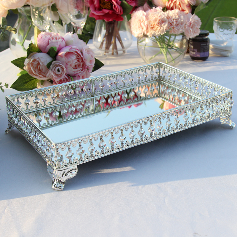 Europe luxurious metal cake stand cake decorating tool silver color cake rack for wedding decoration home