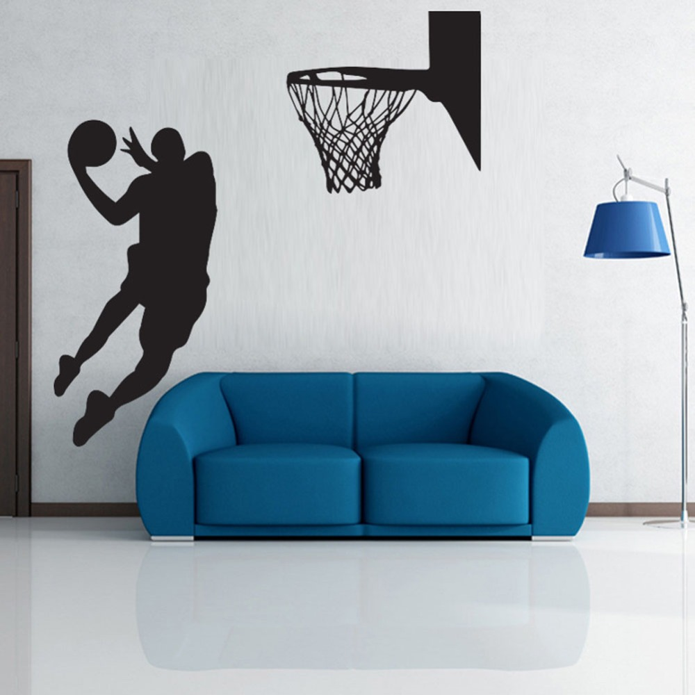 Popular sports wallpaper buy cheap sports wallpaper lots for Basketball mural wallpaper