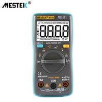 Multímetro Digital MESTEK MT101 MT102 DC AC medidor de corriente de voltaje resistencia diodo capacitancia probador multímetro herramienta de diagnóstico