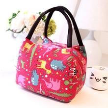 Fashionable Cartoon Design Female Top-Handle Handbag Quality Canvas Women's Lunch Box Casual Female Small Shopping Bag