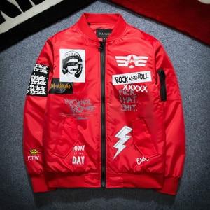 Image 5 - 가을 겨울 Ma1 폭격기 재킷 남자 육군 파일럿 재킷 두꺼운 청소년 펑크 힙합 야구 코트 남성 패션 캐주얼 Streetwear