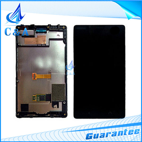 10 pcs DHL/EMS post tested replacement repair parts 4.3 inch screen for Nokia Lumia X2 dual lcd display with touch+frame