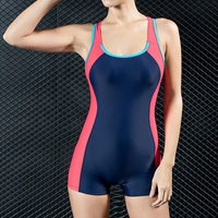 Sexy One Piece Bathing Suit Boxer Shorts Athletic Swimwear Competition Swimsuits Professional Backless Bodysuits Swimming Suits