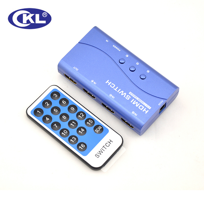 CKL HDMI Switch Switcher 3 in 1 out with IR Remote Push Button for PS3 PS4 Xbox 360 PC DV DVD HDTV 1080P 20488*1536 HD-83M