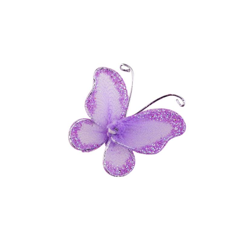 50pcs Wired Mesh Stocking Purple Butterflies Embellishments for Scrapbooking