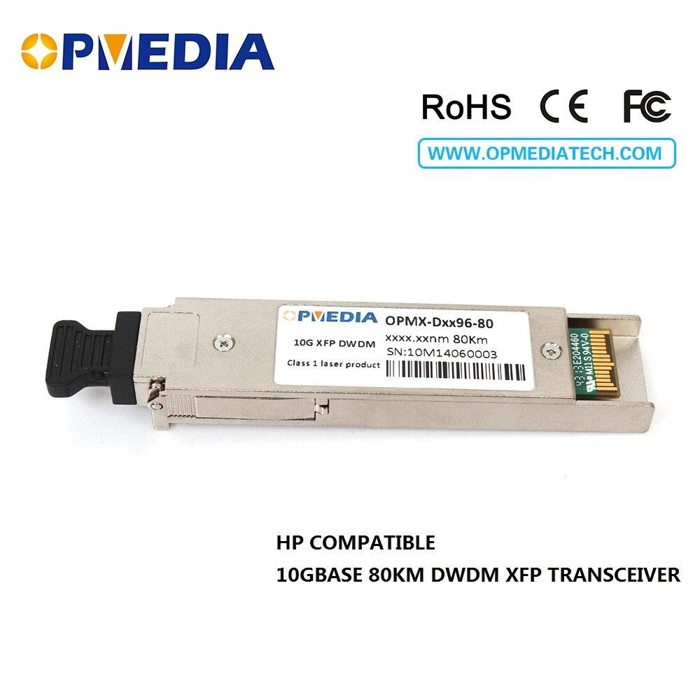 HP compatible 10GBASE-DWDM XFP 80KM C-Band(1563.86nm~1528.77nm) transceiver,10G XFP DWDM ZR optical module free shippingHP compatible 10GBASE-DWDM XFP 80KM C-Band(1563.86nm~1528.77nm) transceiver,10G XFP DWDM ZR optical module free shipping