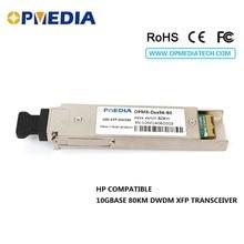 HP compatible 10GBASE-DWDM XFP 80KM C-Band(1563.86nm~1528.77nm) transceiver,10G DWDM ZR optical module free shipping