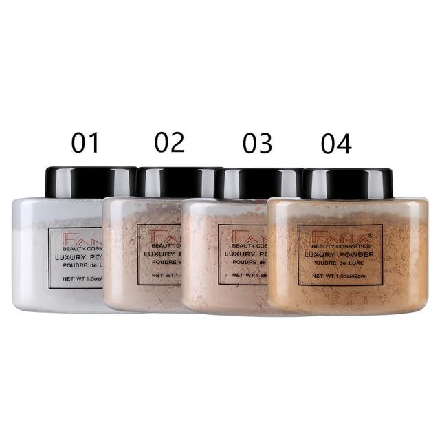 4 colores maquillaje polvo de plátano suave transparente polvo suelto base corrector configuración cara polvo cosméticos maquiagem TSLM1