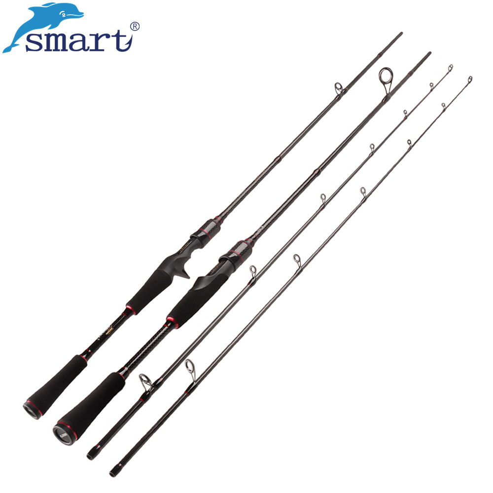 Smart 1.8m/2.1m Spinning/Casting Fishing Rod 2Secs Carbon Lure Rods Lure Weight 7-25g Cane A Peche Fishing Tackle Vara De Pescar