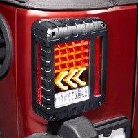 Luci di Coda A LED 2007-2017 per Jeep Wrangler JK con Freno Coda Inversione di Sostegno Freccia Gialla Turning Luce di Segnale Gruppo lampada