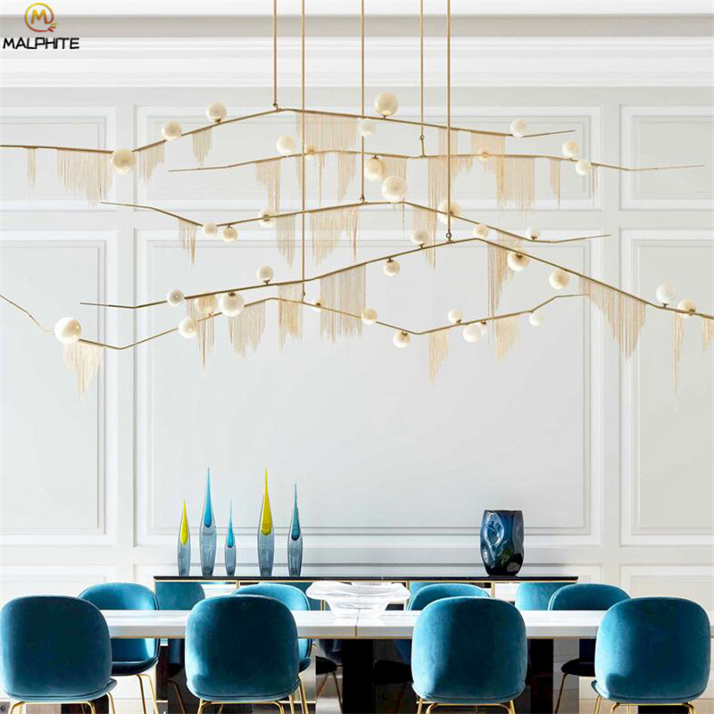 Luxury Pendant Lights Living Room Dining Art Simple Nordic Creative Pendant Light American Molecular Glass Tree light fixtures in Pendant Lights from Lights Lighting