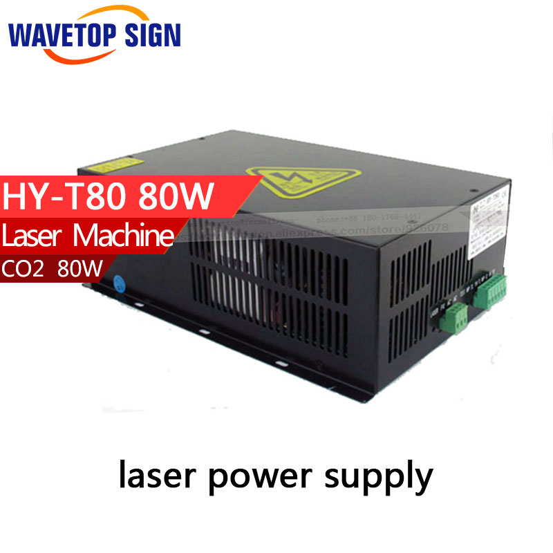80W CO2 Laser Power Supply  HY-T80  for CO2 Laser Engraving Cutting Machine high voltage flyback transformer hy a 2 use for co2 laser power supply