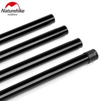 NatureHike 2 2m Black Reinforced Tent Pole 4 Sections Per Pole Sherardized Steel Rod For Tent