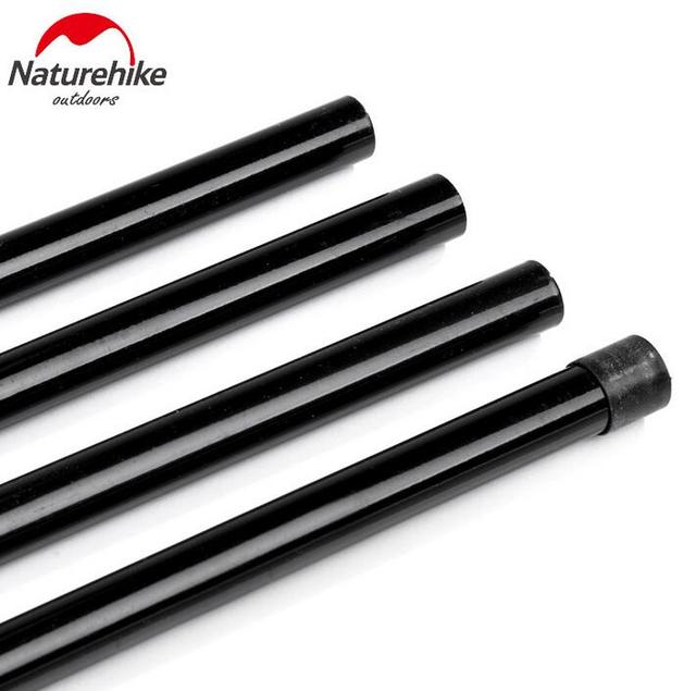 NatureHike 2*2m Reinforced Tent Poles Sherardized Steel Rod for Tent Awning Tar Tarpaulin For Sun Shelter Beach Tent