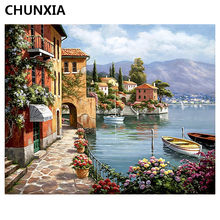CHUNXIA Painting By Numbers DIY Framed Oil Paint Pictures Wall Art Home Decor Unique Gift E720(China)