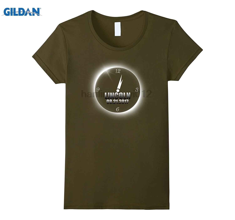 GILDAN Lincoln Nebraska Total Solar Eclipse T Shirt Best Mens T-shirt Dress female T-shirt