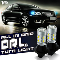 Tcart For Subaru Outback 2004 led DRL WY21W 7440 T20 DRL&Front Turn Signals light All In One