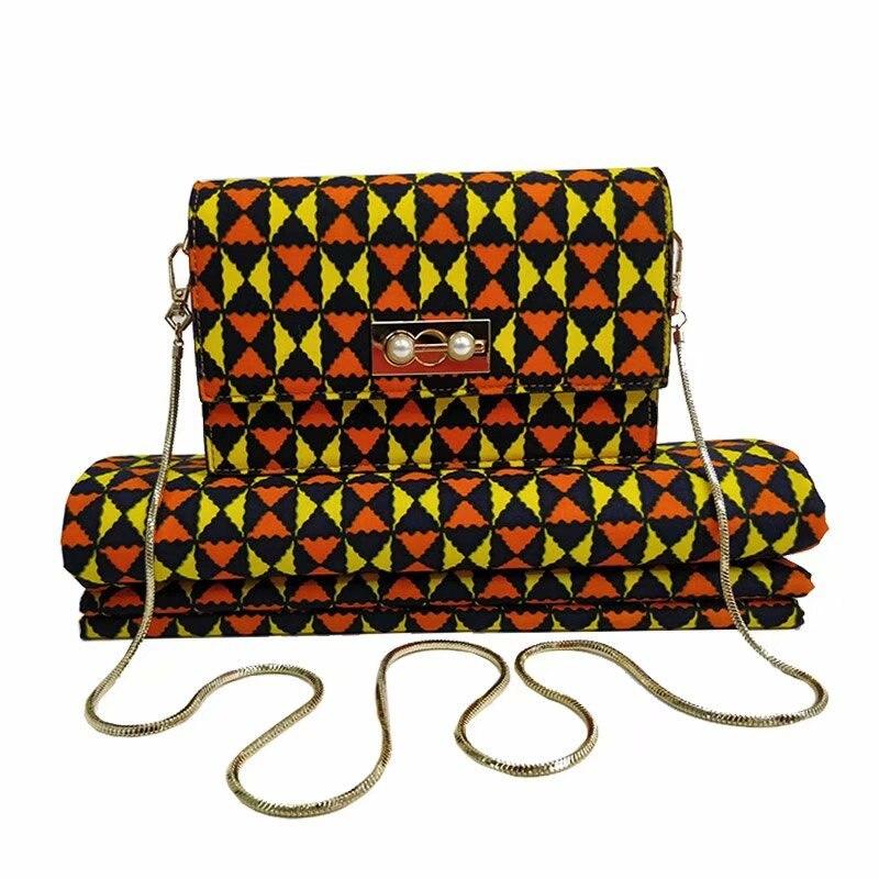 Di alta qualità africano della cera del sacchetto set 3 pezzi/set molle del tessuto della cera e cera del cotone 6 metri borsa di corrispondenza per il vestito-in Tessuto da Casa e giardino su  Gruppo 2