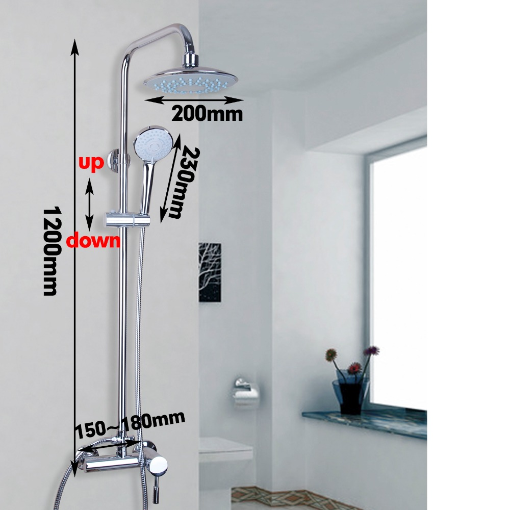 Contemporary Sumptuous Delicate Shower Faucet Chrome Polished Wall Mounted Ceramic Hot Cold Water Mixer Excellent Shower Faucet china sanitary ware chrome wall mount thermostatic water tap water saver thermostatic shower faucet