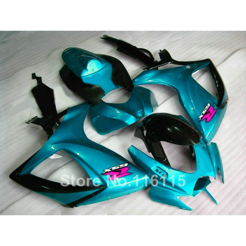 Injection mold  fairing kit for SUZUKI GSXR 600/750 K6 K7 2006 2007 green black GSXR600 GSXR750 06 07 fairings RP17 injection mold for pp automobile bumper