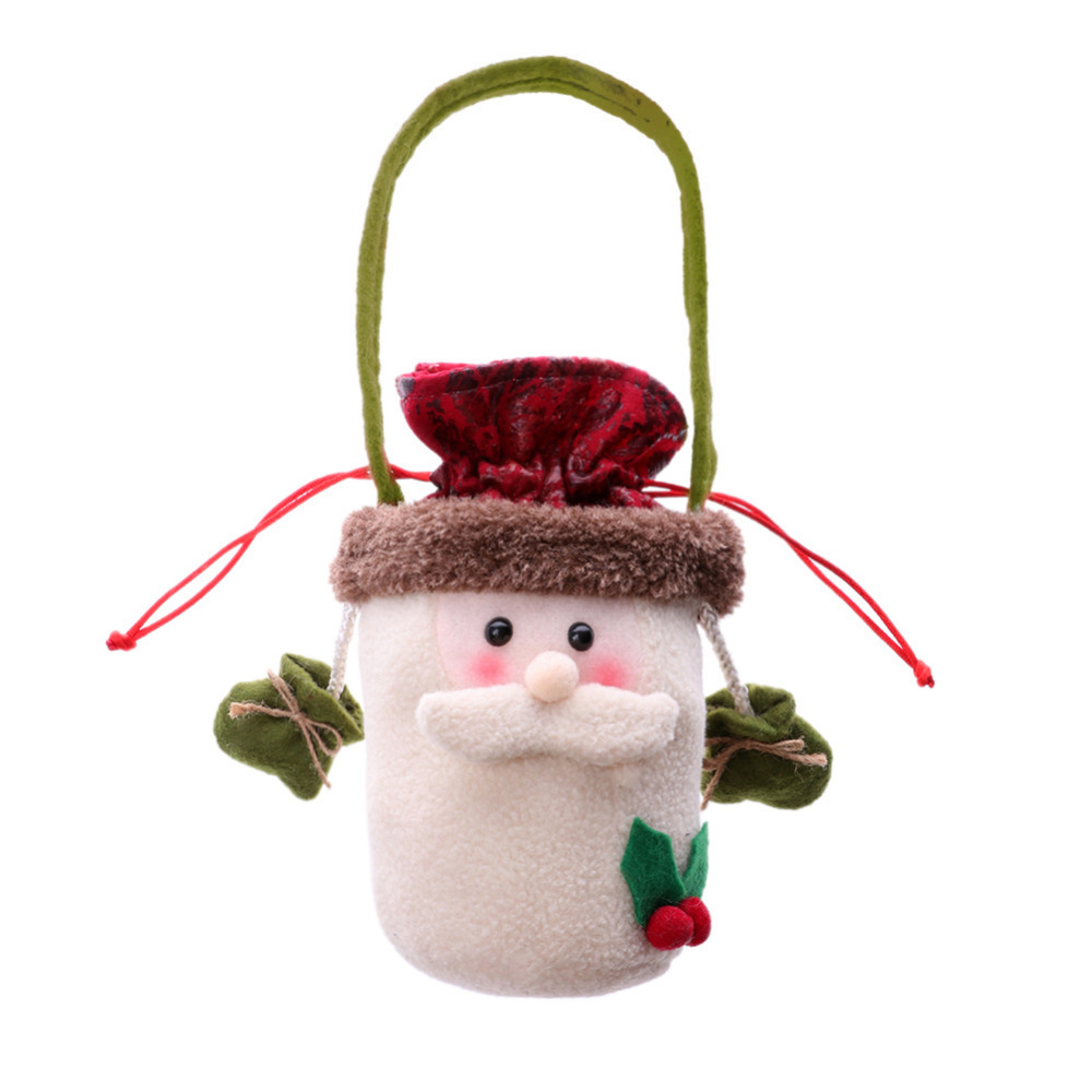 Creative Cute Christmas Gift Handbags Kids Candy Cloth Bag Home Party Decor