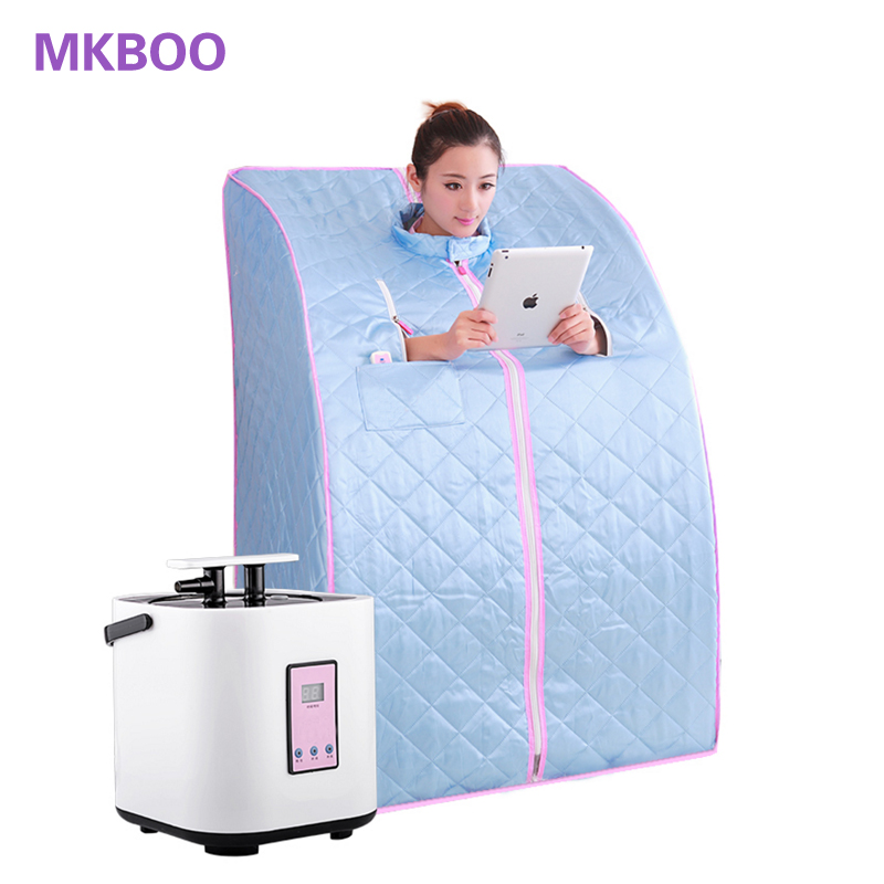 High Quality Portable Folding Family with Three Steam Sauna Box Khan Steam Room Sauna Steamer Steam Generator Pot Free Shipping free shipping high quality sauna accessory cartoon design sauna equipment thermometer hygrometer